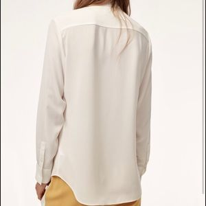 Babaton piero blouse sz small in white